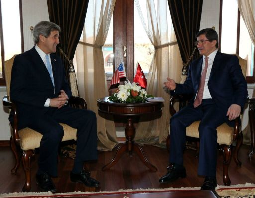 Secretary John Kerry meets with Foreign Minister Ahmet Davutoglu in Ankara