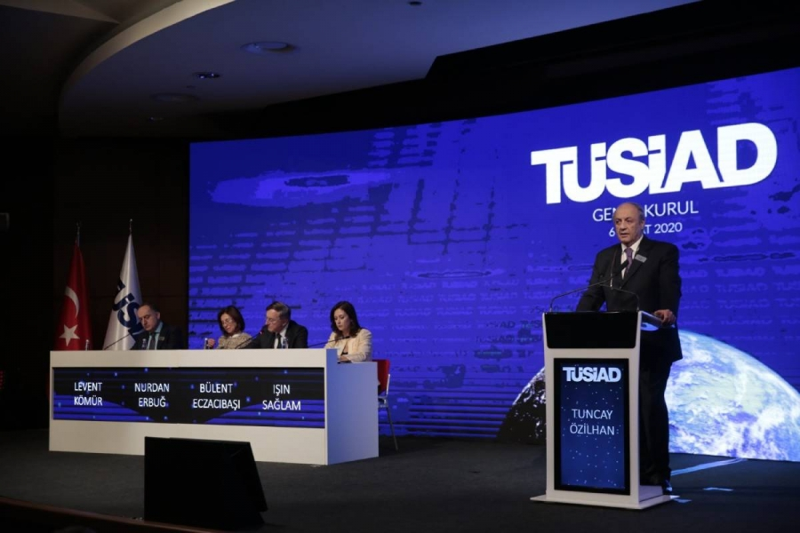 <p>The Turkish Industry and Business Association (TÜSİAD) convened its 2020 General Assembly meeting in Istanbul on February 6, 2020.</p>